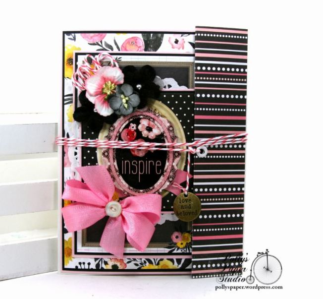 Inspire Flip Book Mini Scrapbook Album Polly's Paper Studio 01