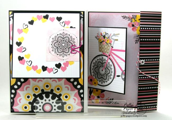 Inspire Flip Book Mini Scrapbook Album Polly's Paper Studio 03