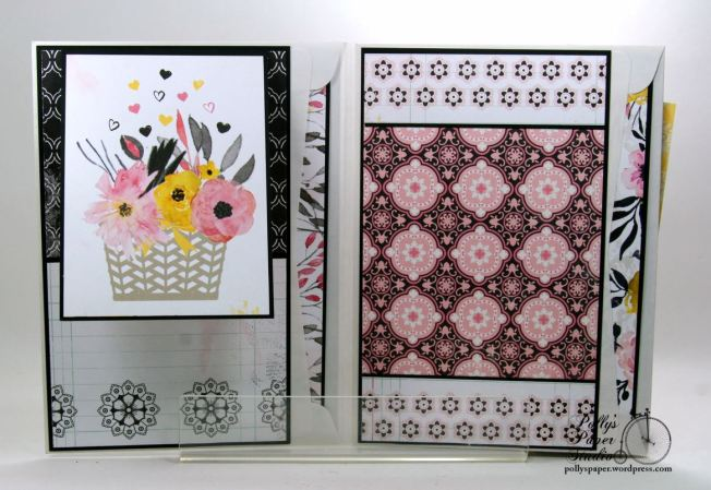 Inspire Flip Book Mini Scrapbook Album Polly's Paper Studio 06