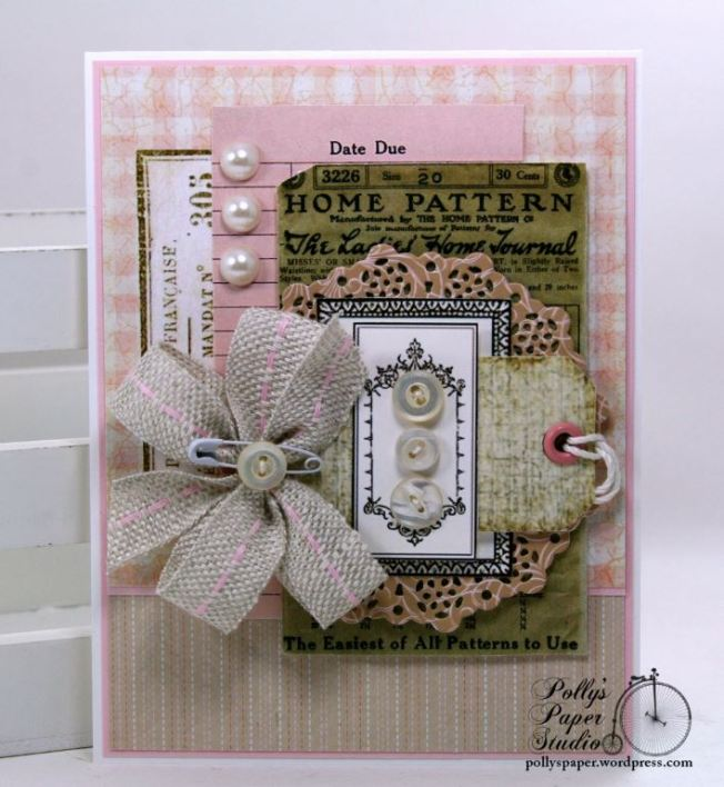 Sewing Pattern Greeting Card Polly's Paper Studio 01