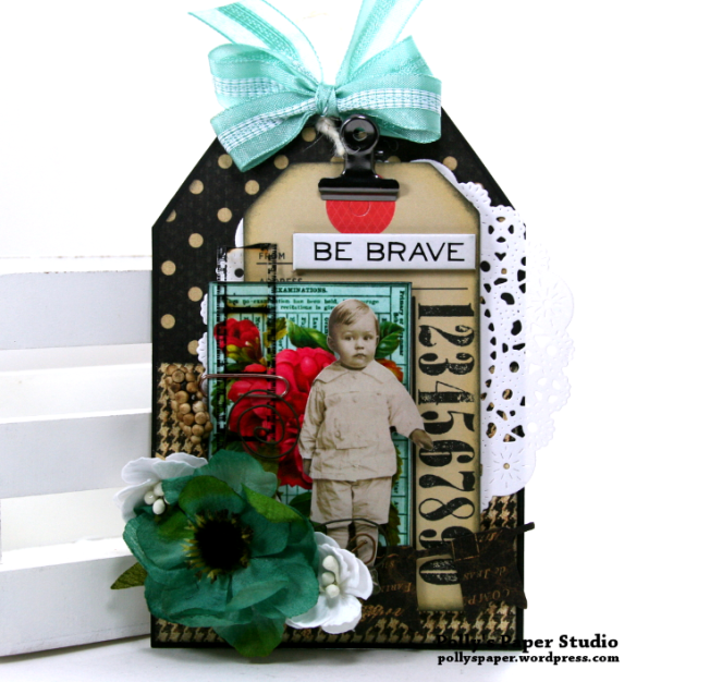 Be Brave Tag Polly's Paper Studio 01