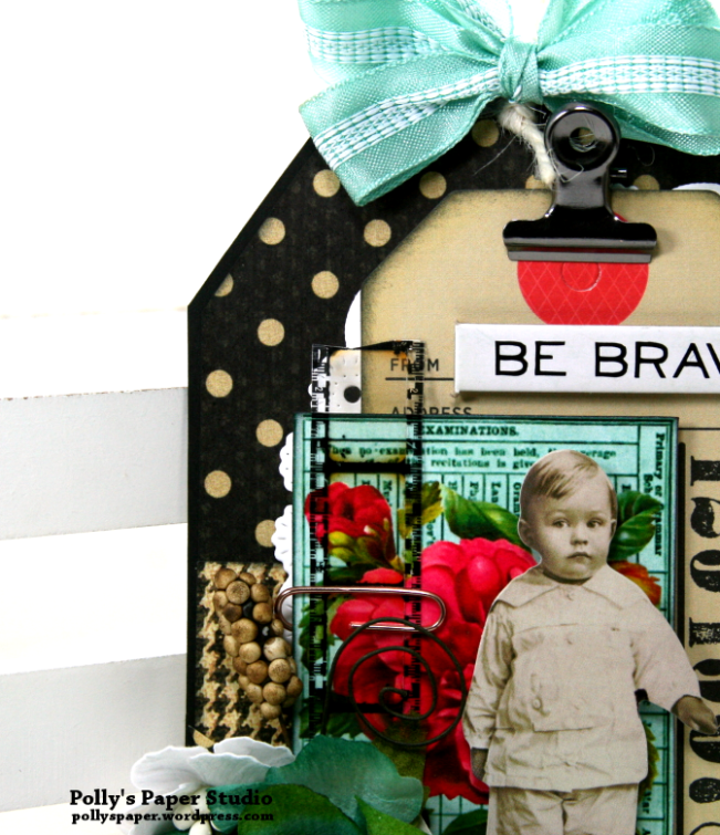 Be Brave Tag Polly's Paper Studio 03