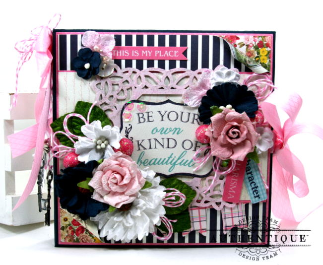 Be Your Own Kind Of Beautiful Mini Album Authentique Polly's Paper Studio 01