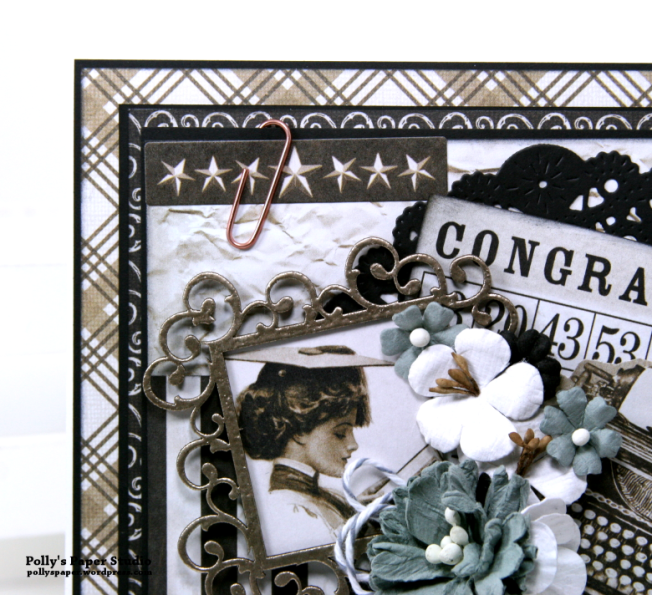Congrats Vintage Graduation Greeting Card Polly's Paper Studio 04