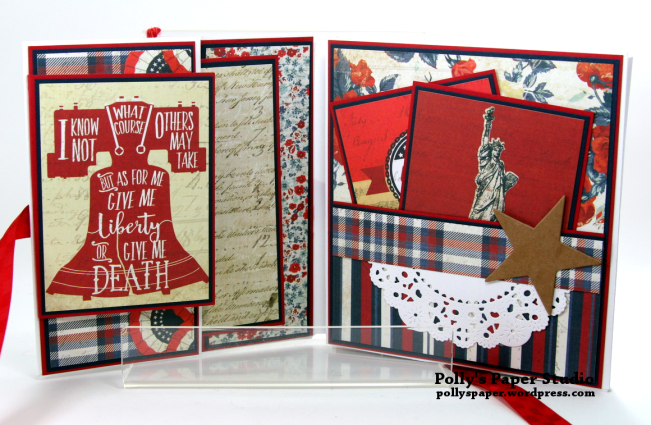 Bold Stripes Brave Hearts Envelope Flip Book Polly's Paper Studio 02