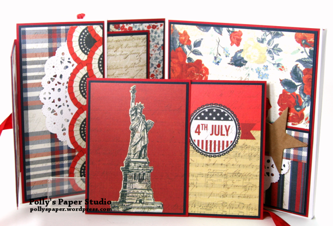 Bold Stripes Brave Hearts Envelope Flip Book Polly's Paper Studio 03