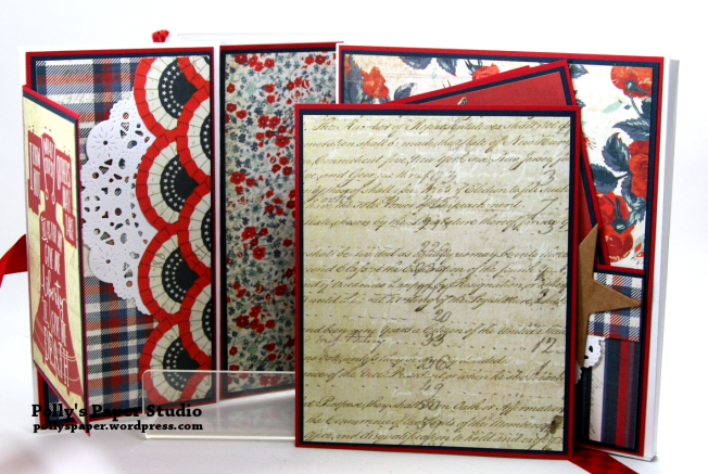 Bold Stripes Brave Hearts Envelope Flip Book Polly's Paper Studio 04