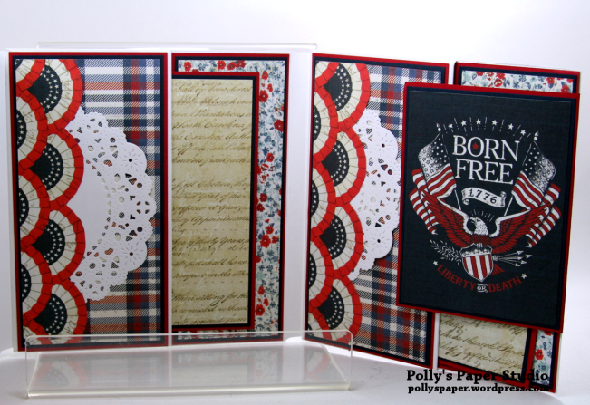 Bold Stripes Brave Hearts Envelope Flip Book Polly's Paper Studio 05