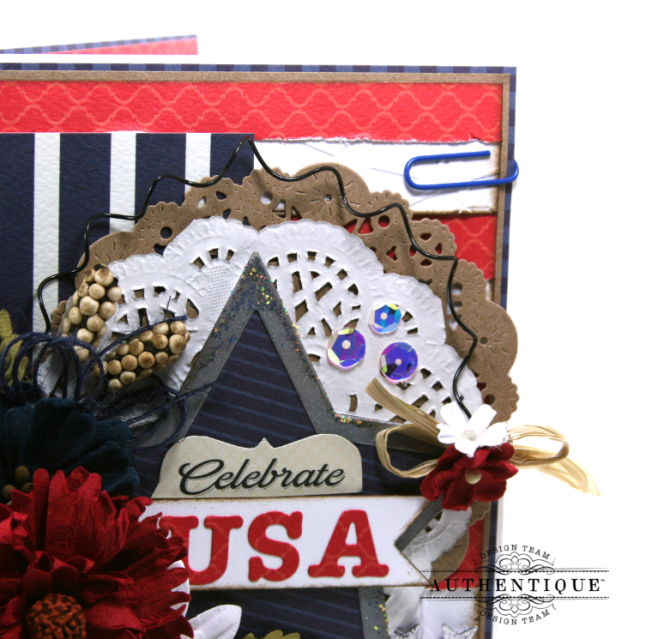 Celebrate USA Greeting Card Polly's Paper Studio 04