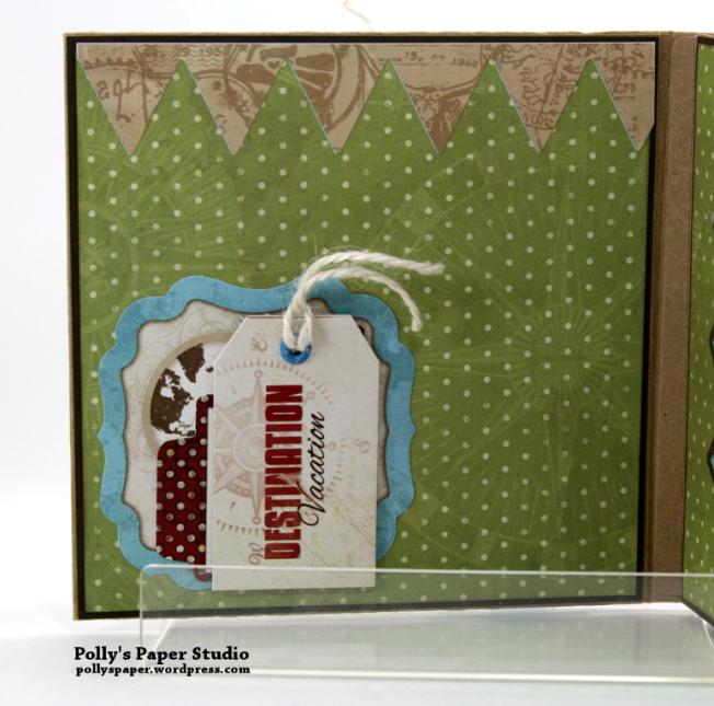Destination Happiness Mini Scrapbook Album Polly's Paper Studio 02