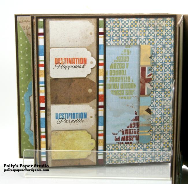 Destination Happiness Mini Scrapbook Album Polly's Paper Studio 06