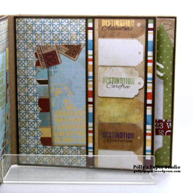 Destination Happiness Mini Scrapbook Album Polly's Paper Studio 07