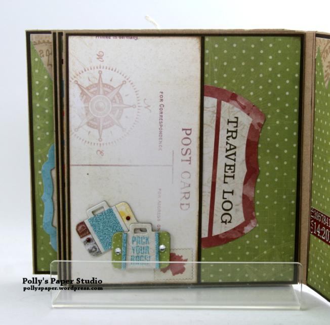 Destination Happiness Mini Scrapbook Album Polly's Paper Studio 08