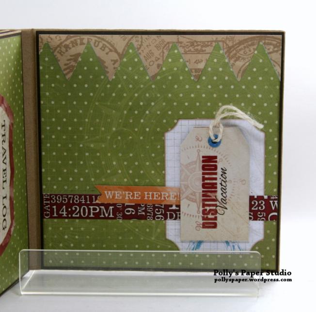 Destination Happiness Mini Scrapbook Album Polly's Paper Studio 09