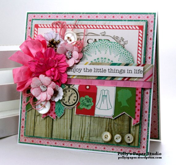 Enjoy the Little Things in Life Greeting Card Polly's paper Studio 01