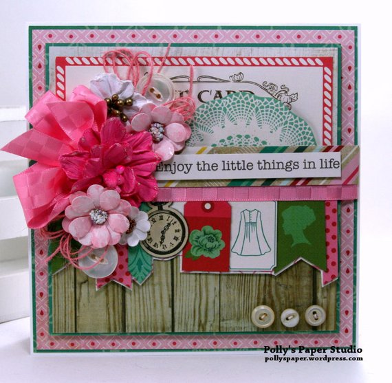 Enjoy the Little Things in Life Greeting Card Polly's paper Studio 02