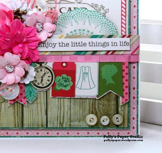 Enjoy the Little Things in Life Greeting Card Polly's paper Studio 03
