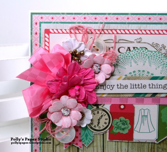 Enjoy the Little Things in Life Greeting Card Polly's paper Studio 04