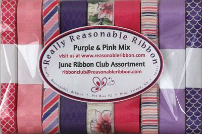 June Ribbon Club Assortment Purple and Pink Mix