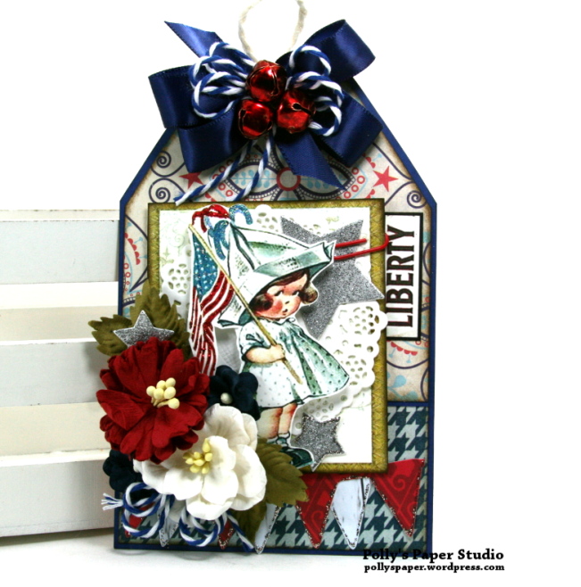 Liberty Patriotic Tag Polly's Paper Studio 01