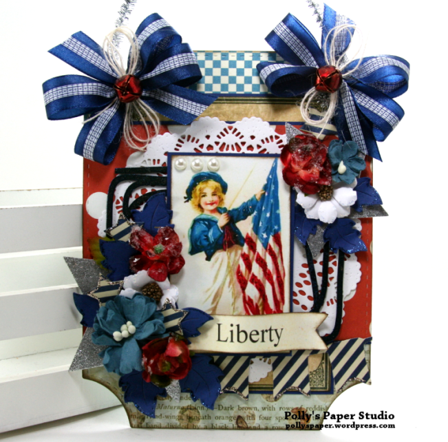 Liberty Patriotic Wall Hanging Polly's Paper Studio 01