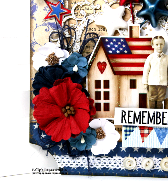 Remember This Patriotic Wall Hanging Polly's Paper Studio 02