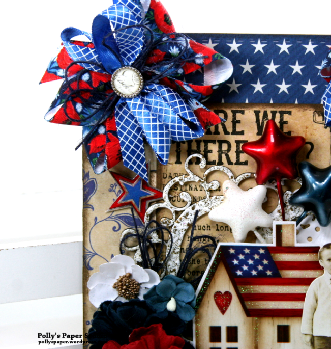 Remember This Patriotic Wall Hanging Polly's Paper Studio 03
