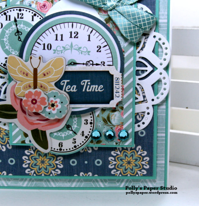 Tea Time Spring Inspired Card Polly's Paper Studio 04