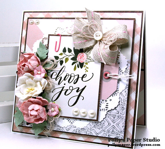Choose Joy All Occasion Greeting Card Polly's Paper Studio 01