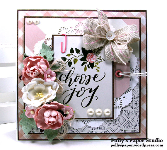Choose Joy All Occasion Greeting Card Polly's Paper Studio 02