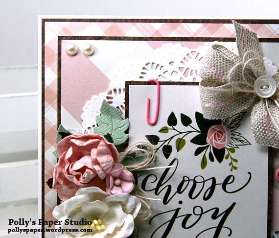 Choose Joy All Occasion Greeting Card Polly's Paper Studio 04