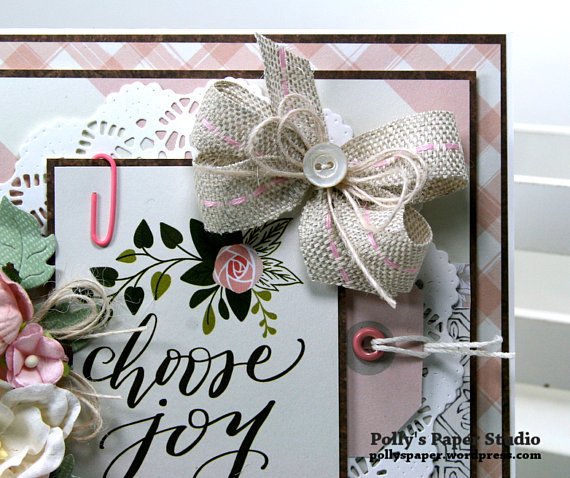 Choose Joy All Occasion Greeting Card Polly's Paper Studio 05