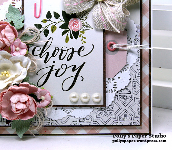 Choose Joy All Occasion Greeting Card Polly's Paper Studio 06