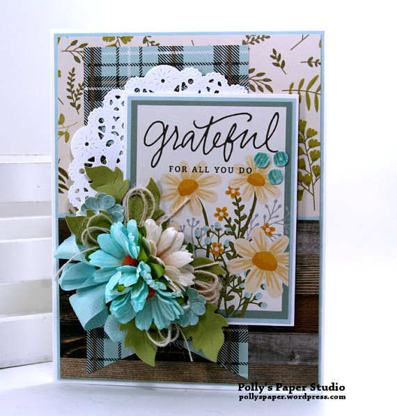 Grateful Greeting Card Polly's Paper Studio 01
