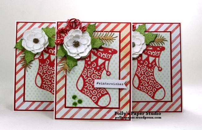 1 Card 3 Ways Chrsitmas in July Polly's Paper Studio