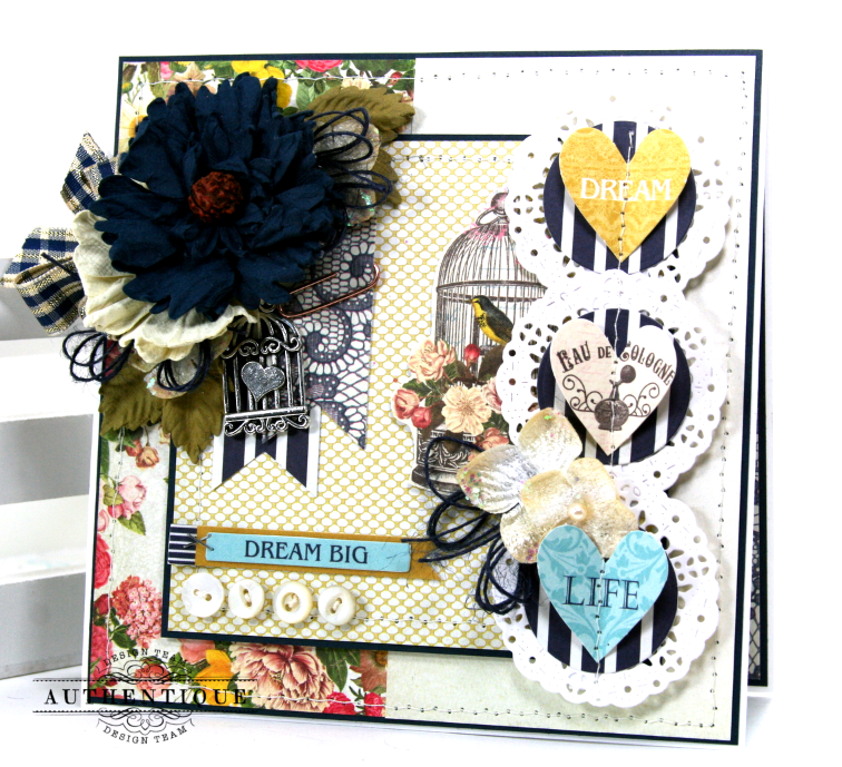 Dream big greeting card for authentique papers pollys paper studio the dame collection has so many gorgeous elements to play with that its a favorite for me to create cards with m4hsunfo