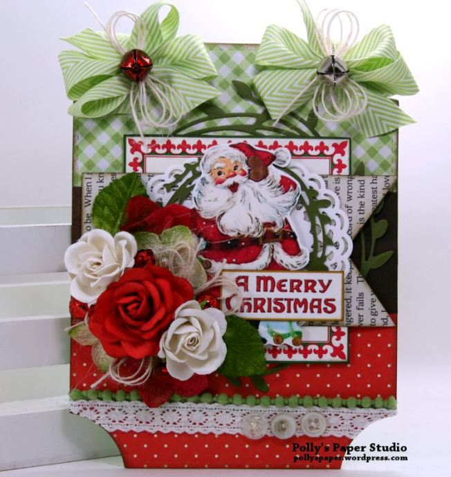 A Merry Christmas Wall Hanging Polly's Paper Studio 01