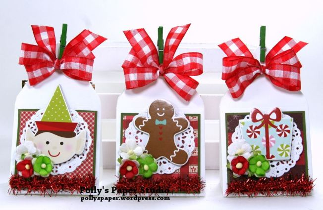 Christmas Treat Holders Christmas in July Polly's Paper Studio