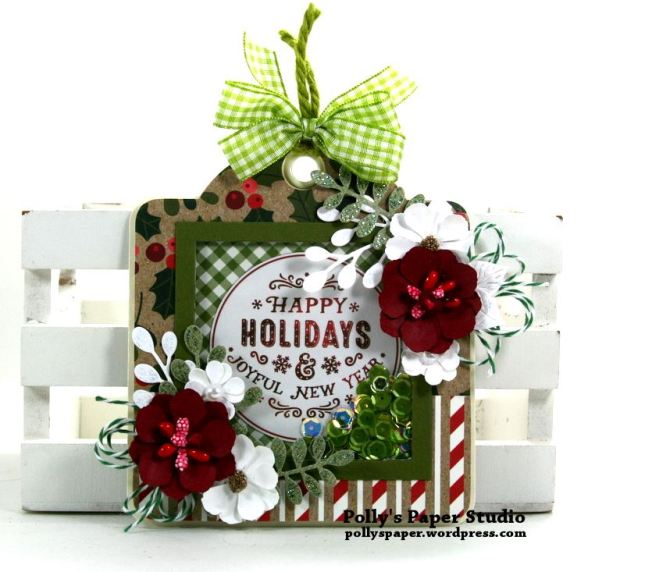 Happy Holidays Shaker Tag Magnet