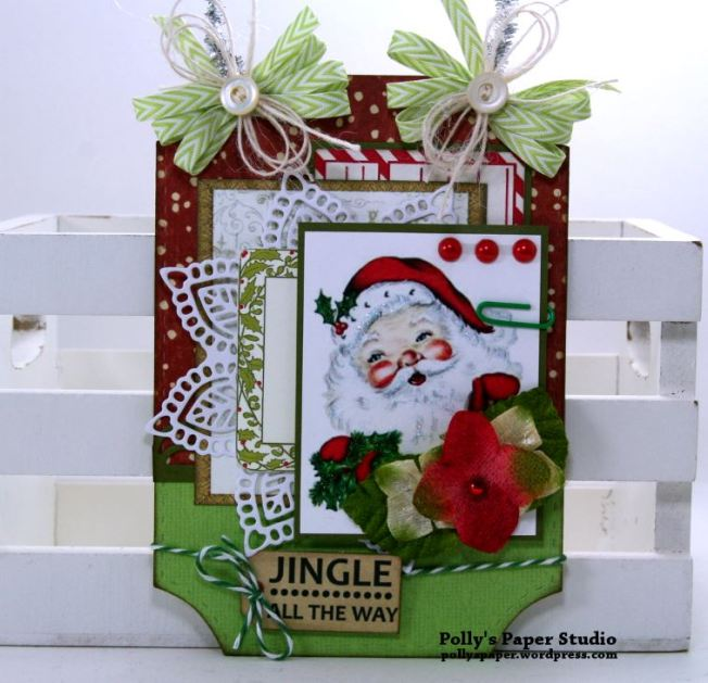 JIngle All The Way Tag Polly's Paper Studio Handmade 01
