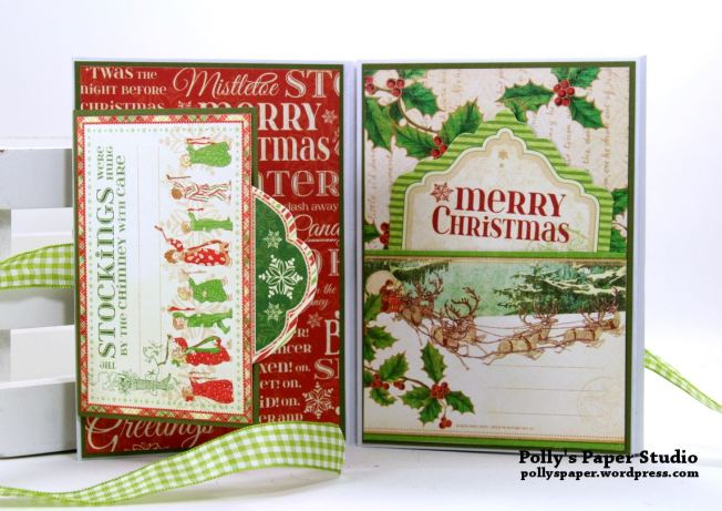 Jolly St Nick Christmas Envelope Mini Flip Book Polly's Paper Studio 02