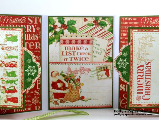 Jolly St Nick Christmas Envelope Mini Flip Book Polly's Paper Studio 03