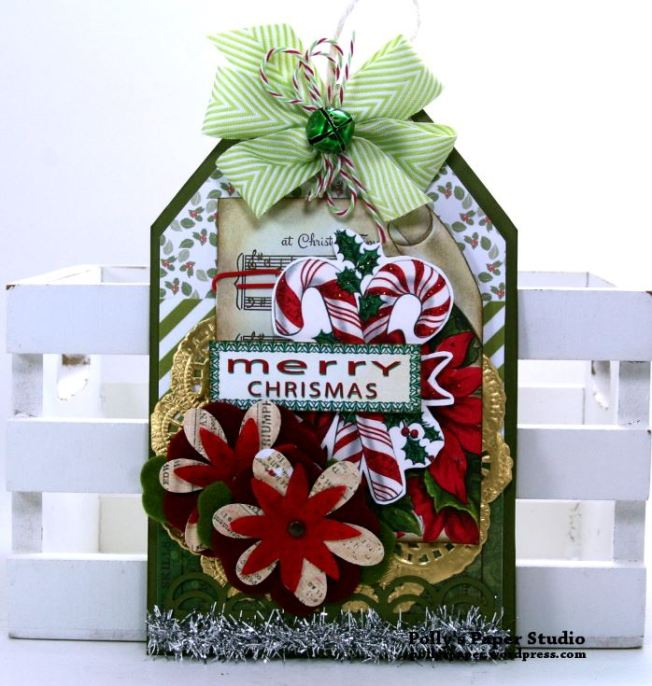 Merry Christmas Candy Canes Tag Polly's Paper Studio 01