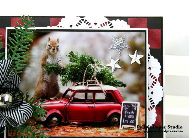 Merry Christmas Fur Friend Greeting Card Polly's Paper Studio 03