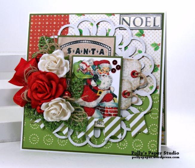 Noel Santa Christmas Greeting Card Polly's Paper Studio 01