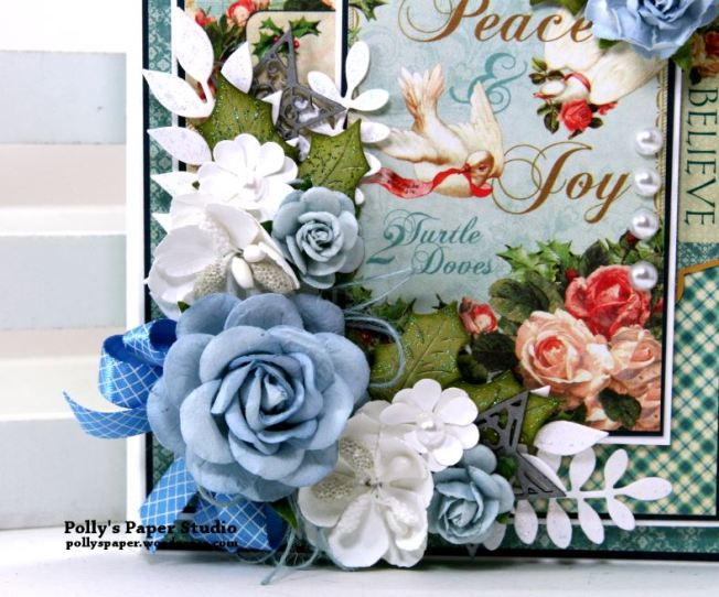 Peace and Joy Mini Flip Book Polly's Paper Studio Handmade 02