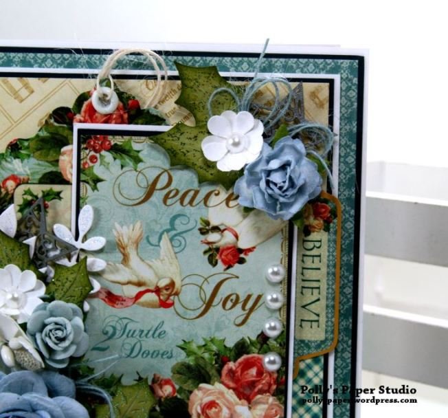 Peace and Joy Mini Flip Book Polly's Paper Studio Handmade 03