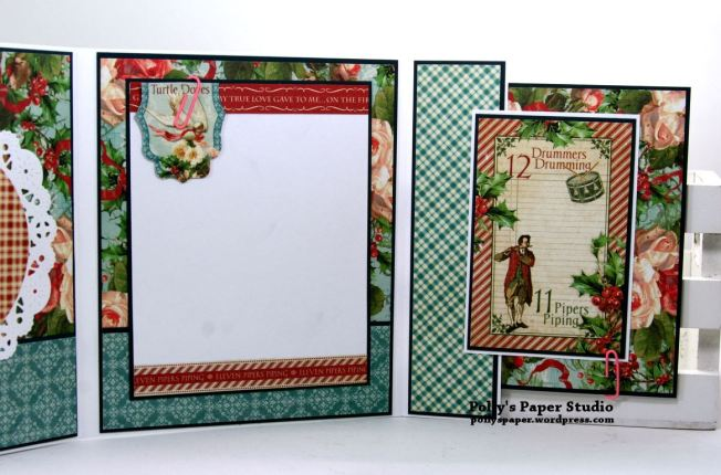 Peace and Joy Mini Flip Book Polly's Paper Studio Handmade 05