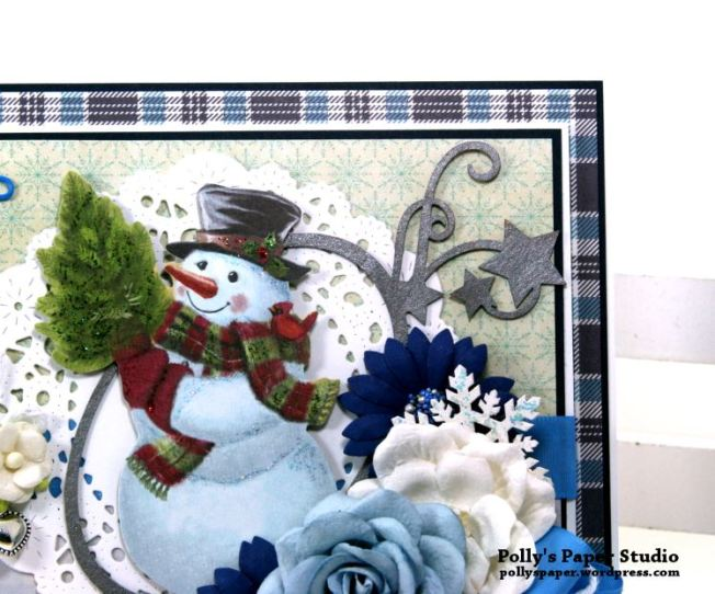 Snowman Christmas Greeting Card Polly's Paper Studio 03