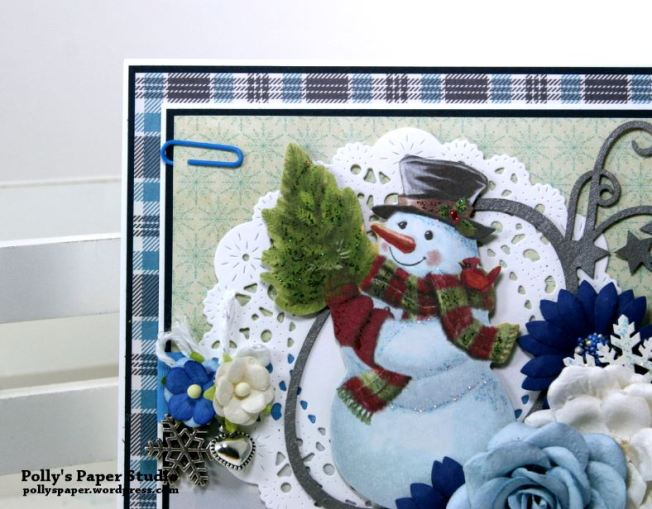 Snowman Christmas Greeting Card Polly's Paper Studio 04